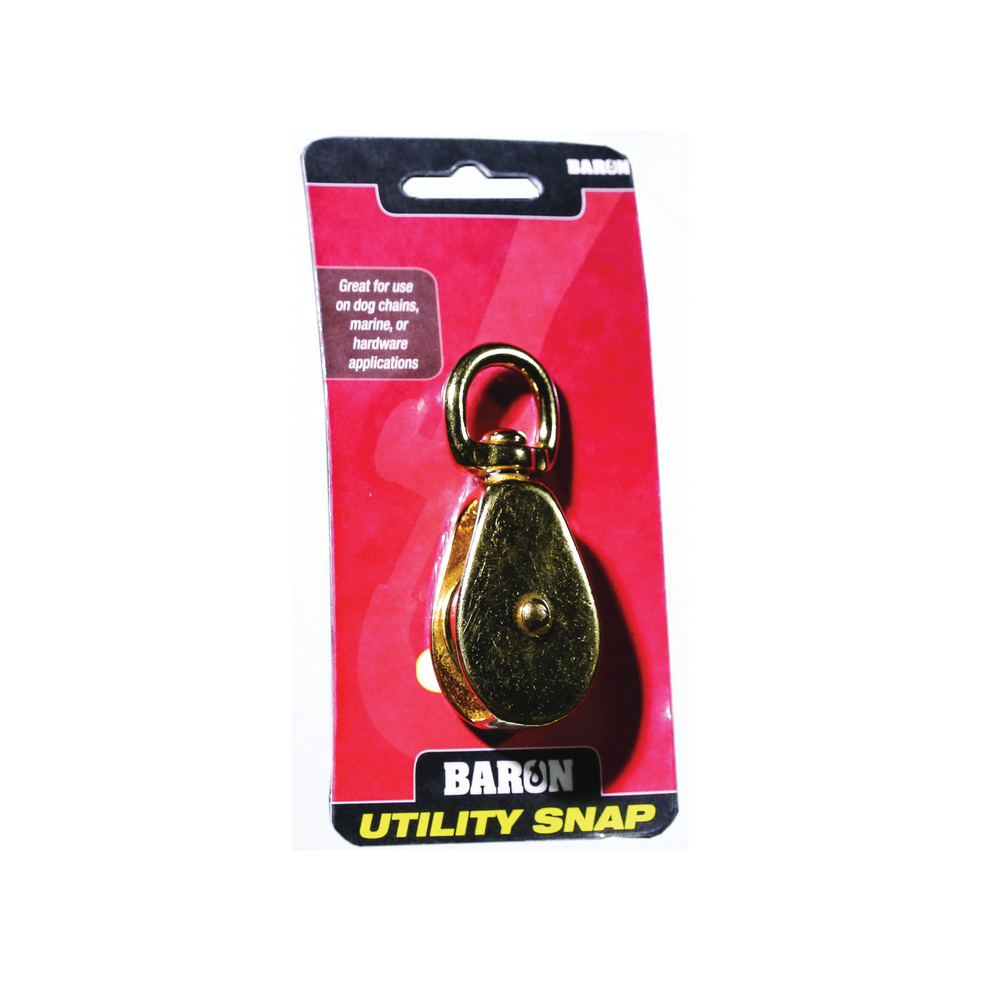 Picture of BARON C-0173B-2 Single Rope Pulley, 7/16 in Rope, 50 lb Working Load, 2 in Sheave, Nickel