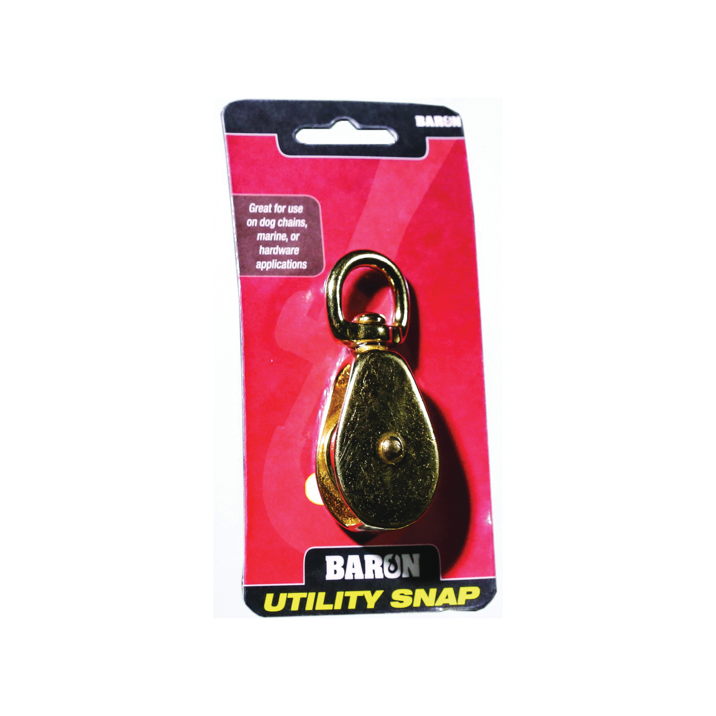 Picture of BARON C-0173B-1-1/4 Single Rope Pulley, 5/16 in Rope, 1-1/4 in Sheave, Polished