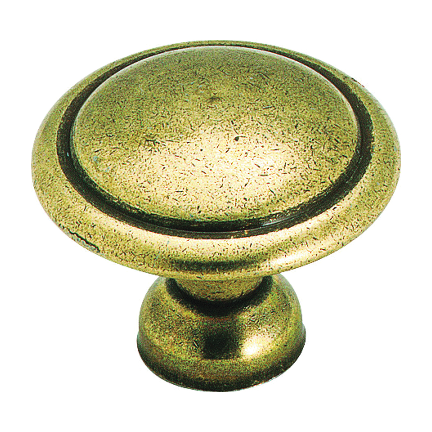 Picture of Amerock 848LB Cabinet Knob, 1 in Projection, Zinc, Light Antique Brass