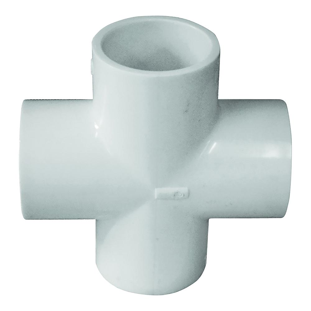 Picture of GENOVA 300 Series 34414 Pipe Cross, 1-1/4 in Slip Joint, 1-1/4 in Slip Joint, 1-1/4 in Slip Joint, 1-1/4 in Slip Joint