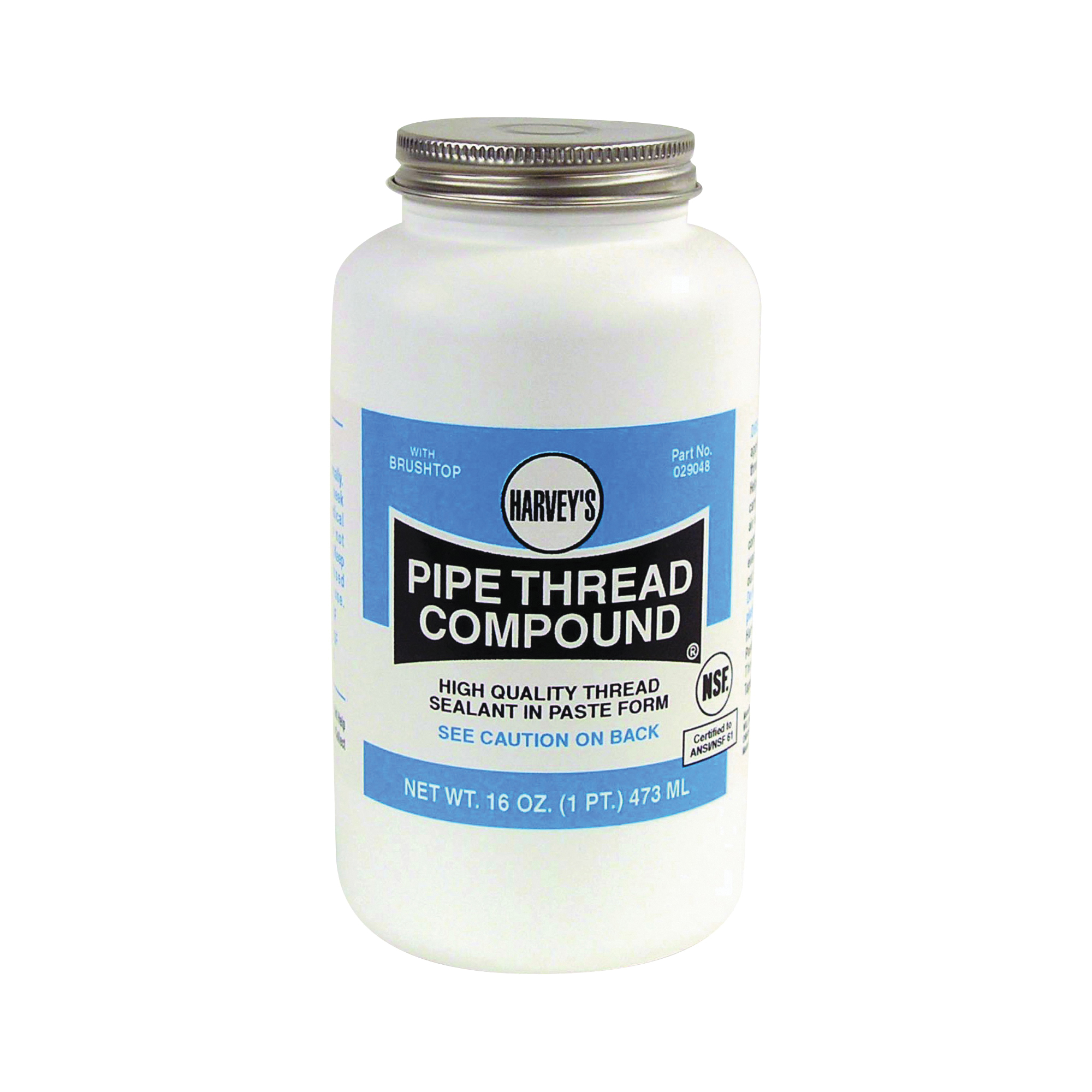 Picture of HARVEY 029048 Pipe Thread Compound, 16 fl-oz, Jar, Thick Paste, Gray
