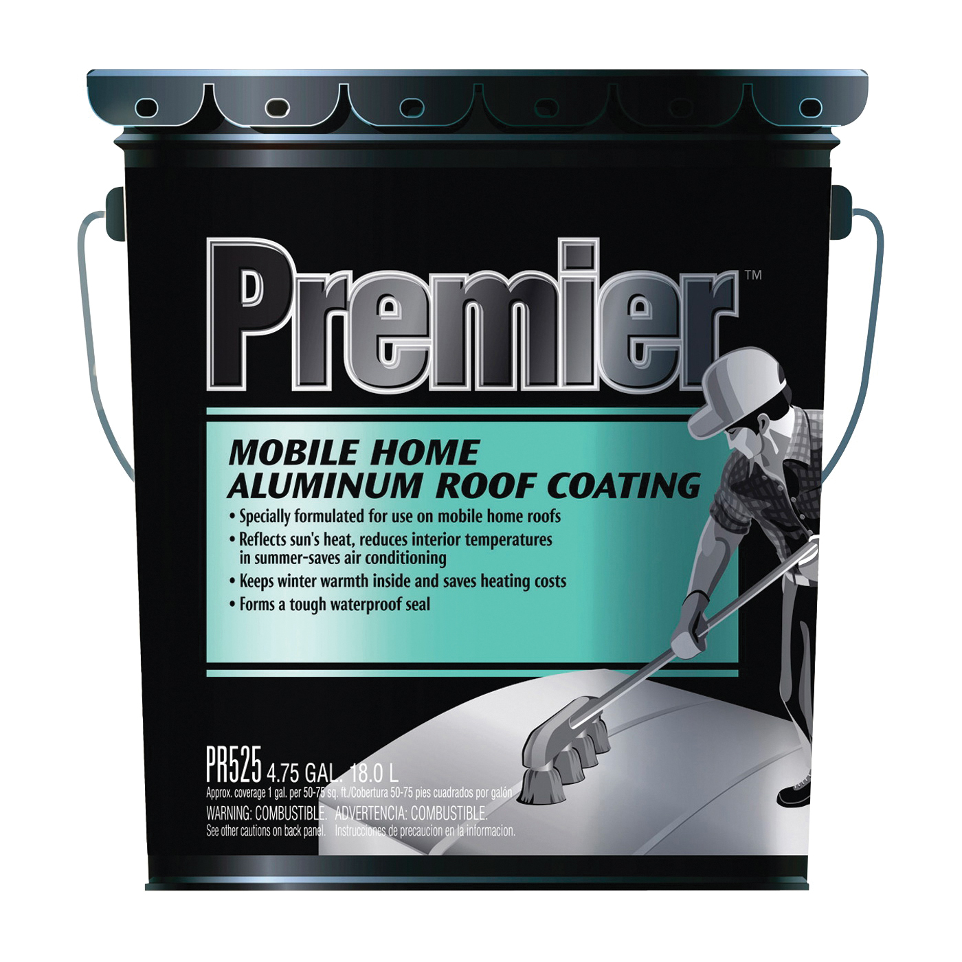 Picture of Henry PR525070 Aluminum Roof Coating, Silver, 18 L, Pail, Liquid