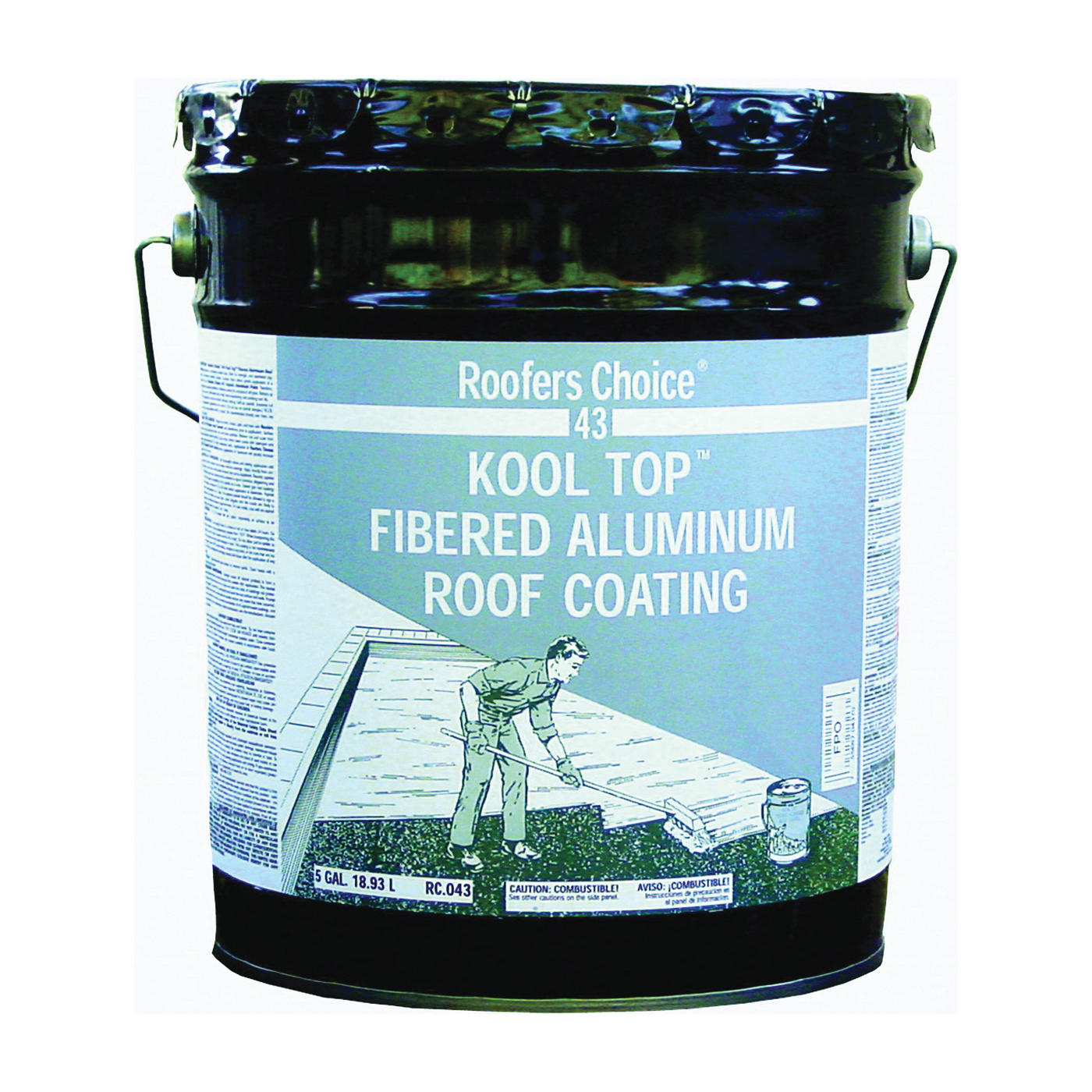 Picture of Henry Roofers Choice RC043070 Aluminum Roof Coating, Aluminum, 18.93 L, Pail, Liquid