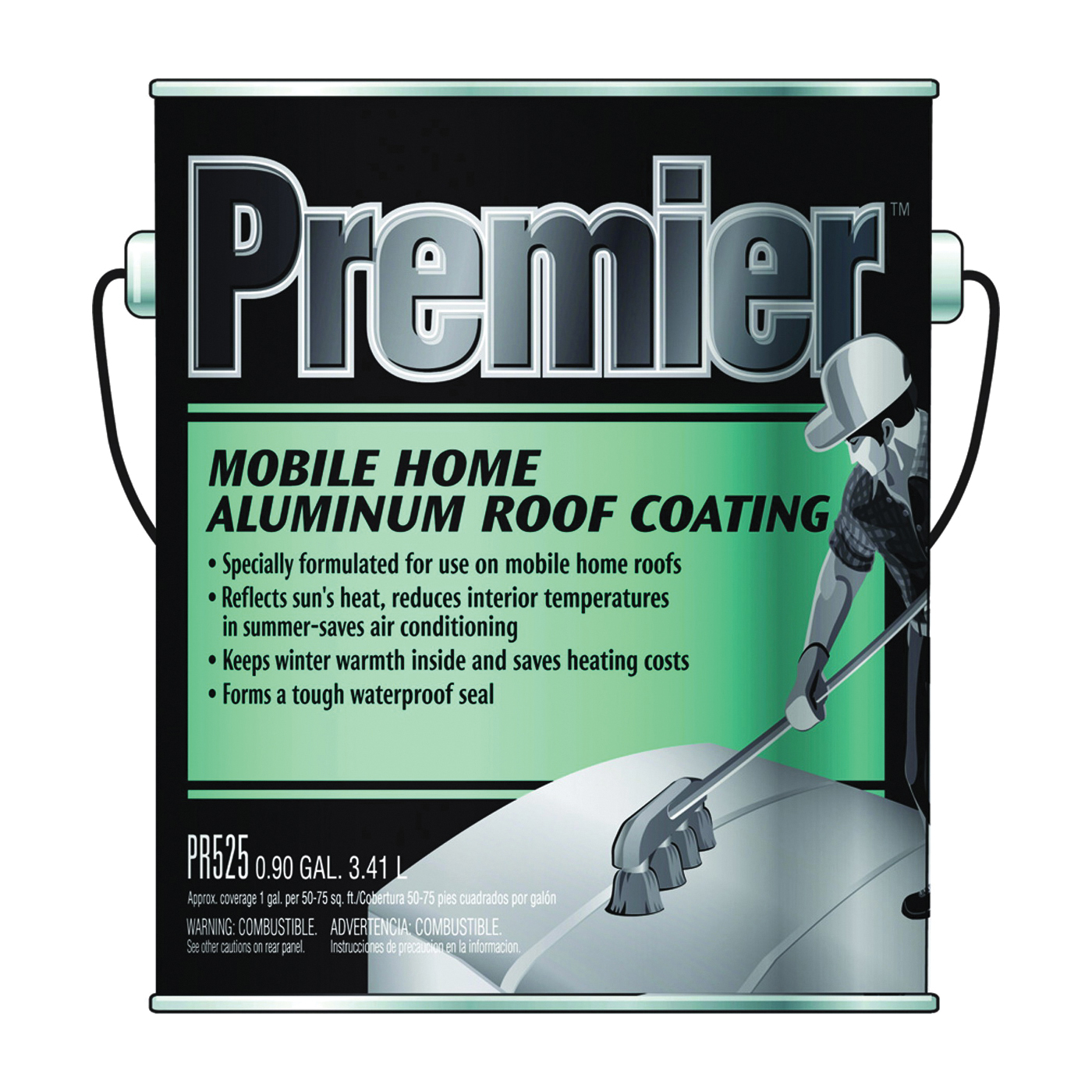 Picture of Henry PR525042 Aluminum Roof Coating, Silver, 3.41 L, Can, Liquid