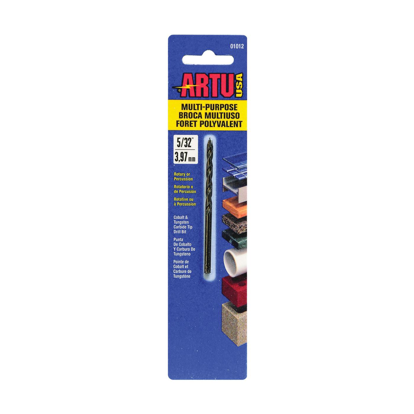Picture of ARTU 01012 Drill Bit, 5/32 in Dia, 3-1/8 in OAL, Jobber Bit, Parabolic Flute, 5/32 in Dia Shank, Straight Shank