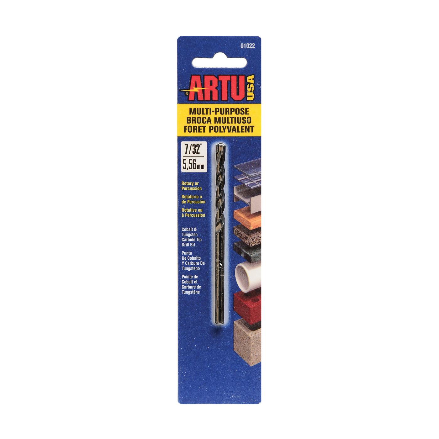 Picture of ARTU 01022 Drill Bit, 7/32 in Dia, 3-3/4 in OAL, Jobber Bit, Parabolic Flute, 7/32 in Dia Shank, Straight Shank