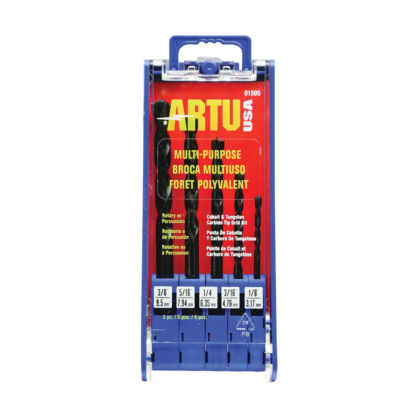Picture of ARTU 01505 Drill Bit Set, Multi-Purpose, 5 -Piece, Cobalt