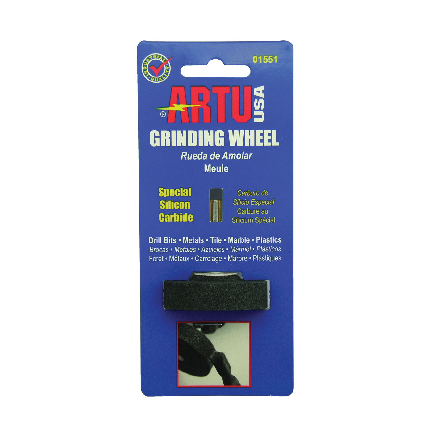 Picture of ARTU 01551 Grinding Wheel, 1/4 in Arbor, Silicone Carbide Abrasive