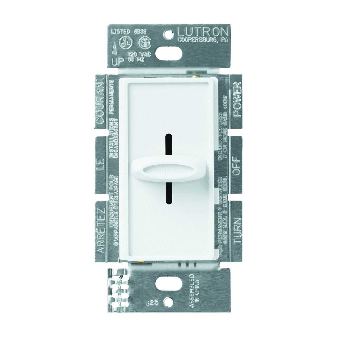 Picture of Lutron Skylark SFSQ-FH-WH Fan Control Switch, 1.5 A, 120 V, White