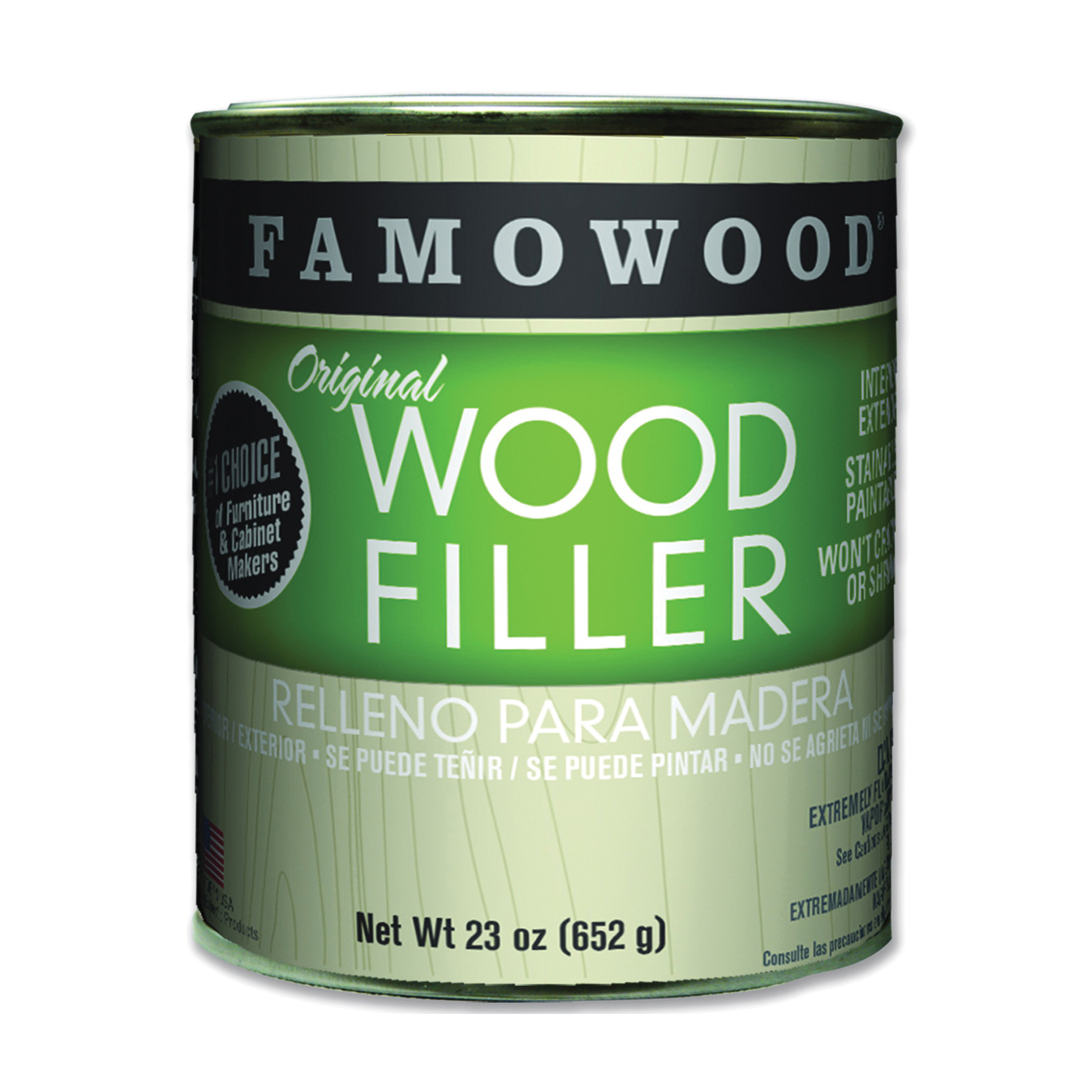 Picture of ECLECTIC 36021134 Wood Filler, Liquid, Paste, Red Oak, 24 oz Package, Can