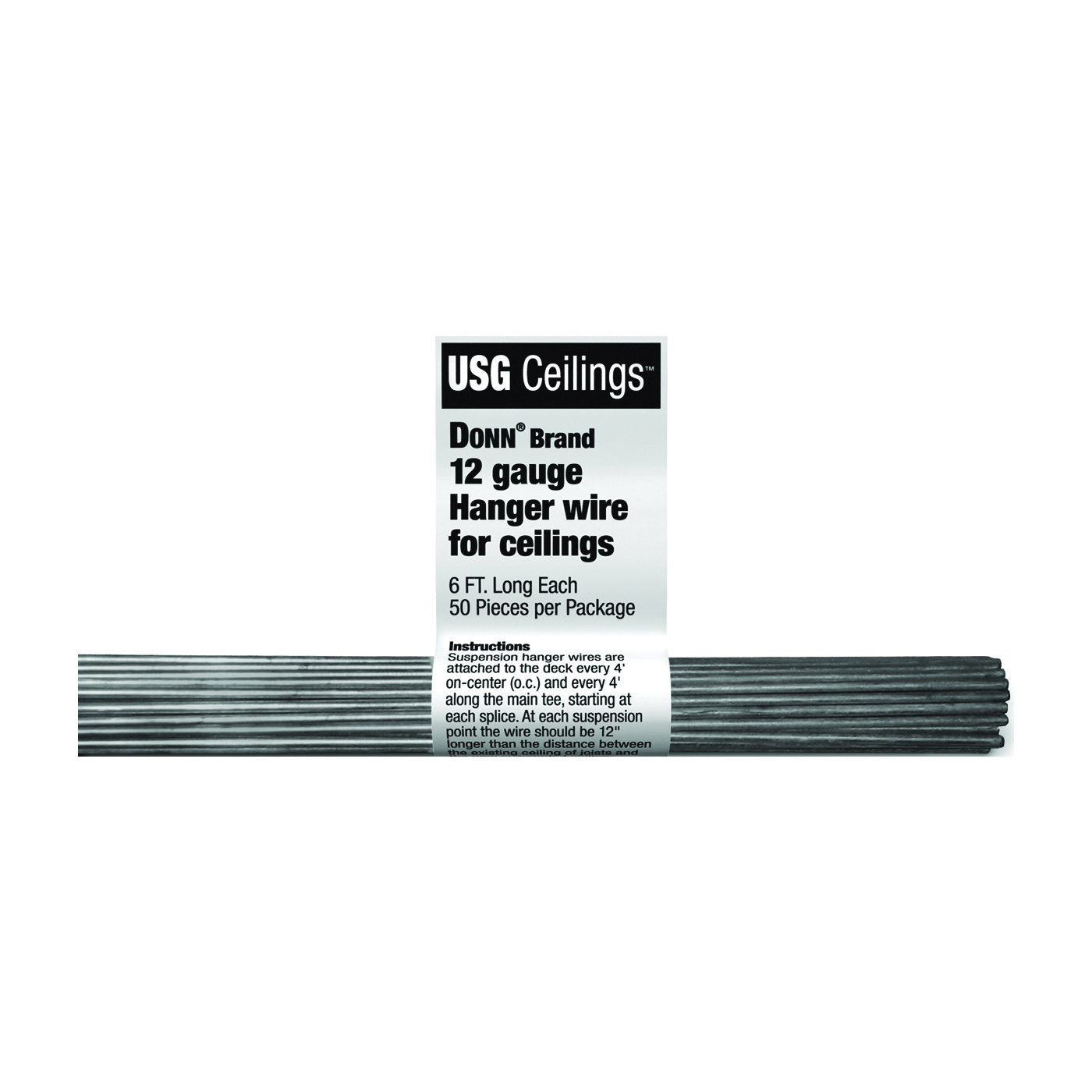 Picture of USG DONN SDX/SDXL 207535 Hanger Wire, Galvanized, 50 Package