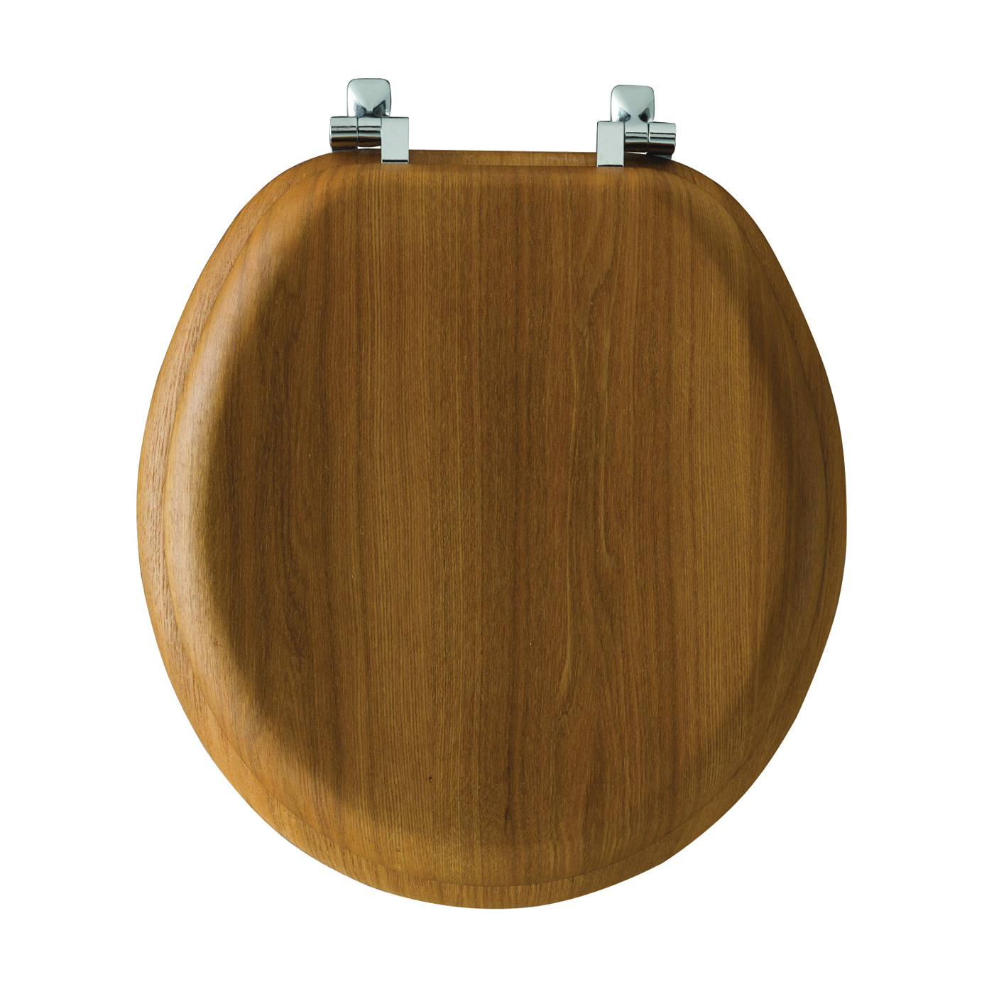 Picture of Mayfair 9601CP378 Toilet Seat, Round, Wood Veneer, Natural Oak