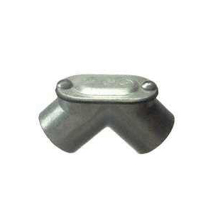 Picture of Halex 94107 Pull Elbow, 90 deg Angle, 3/4 in Trade, FPT x FPT, Zinc