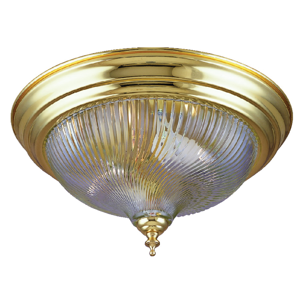 Picture of Boston Harbor F51BB02-10193L Ceiling Light Fixture, 2-Lamp, CFL Lamp, Polished Brass Fixture