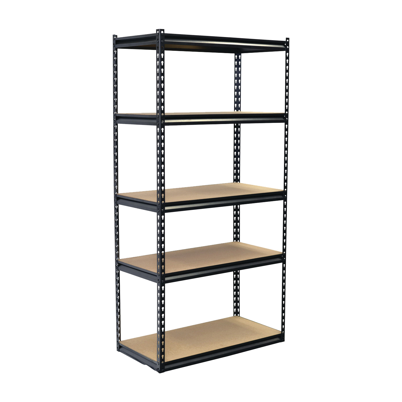 Picture of Storage Concepts SCB1505W Boltless Shelving Unit, 4000 lb Capacity, 5-Shelf, 36 in OAW, 18 in OAD, 72 in OAH
