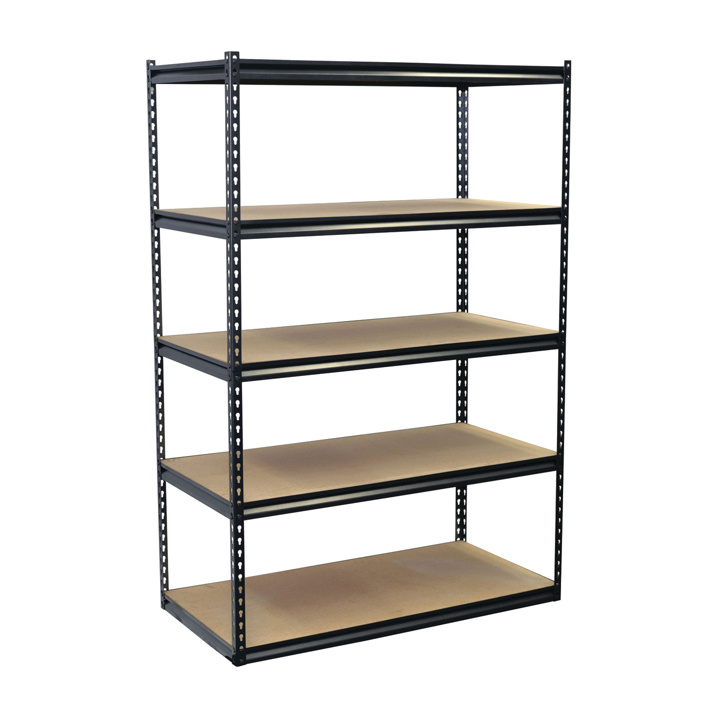 Picture of Storage Concepts SCB2505W Boltless Shelving Unit, 4000 lb Capacity, 5-Shelf, 48 in OAW, 24 in OAD, 72 in OAH