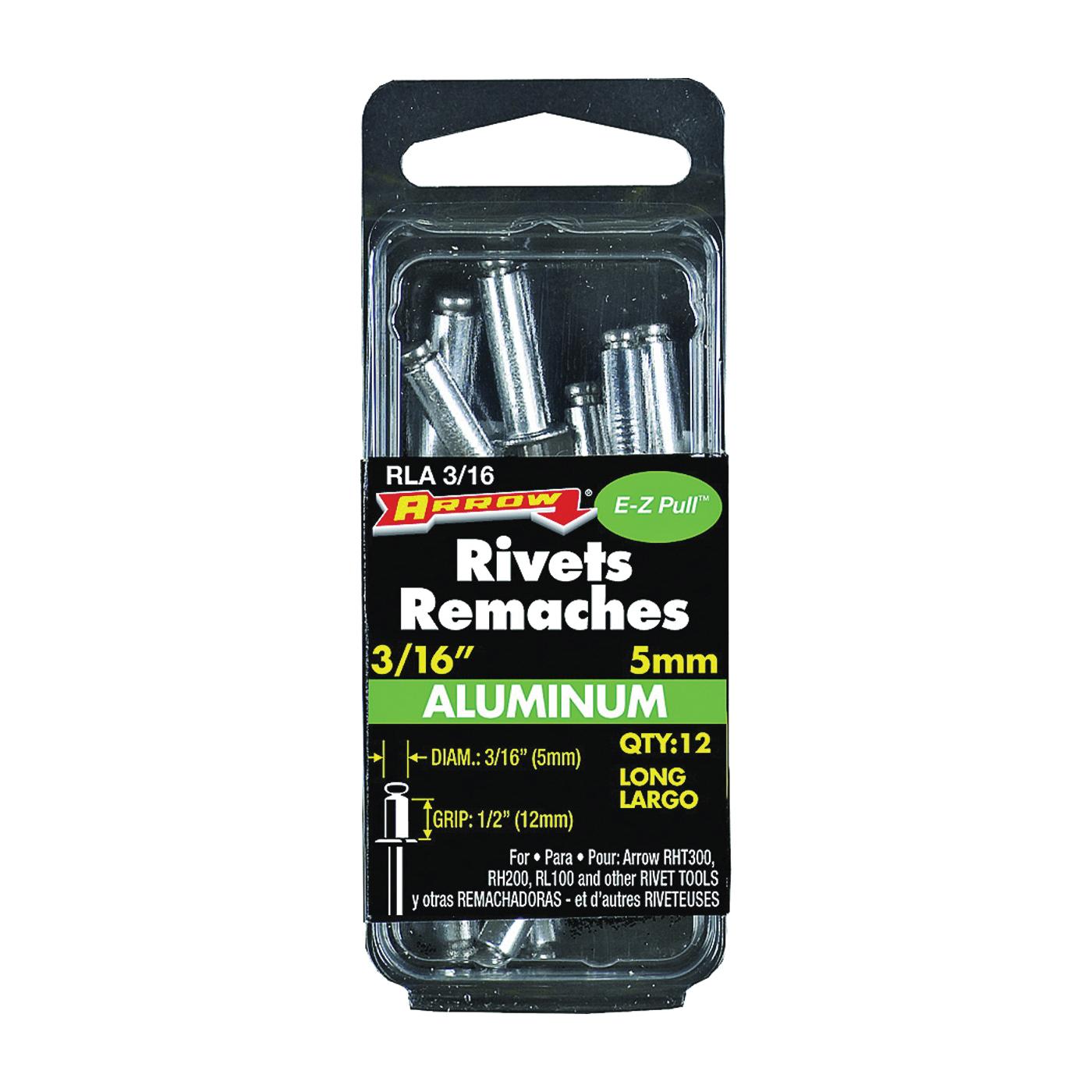 Picture of Arrow RLA3/16 Pop Rivet, Long, 1/2 in L, Aluminum, 12