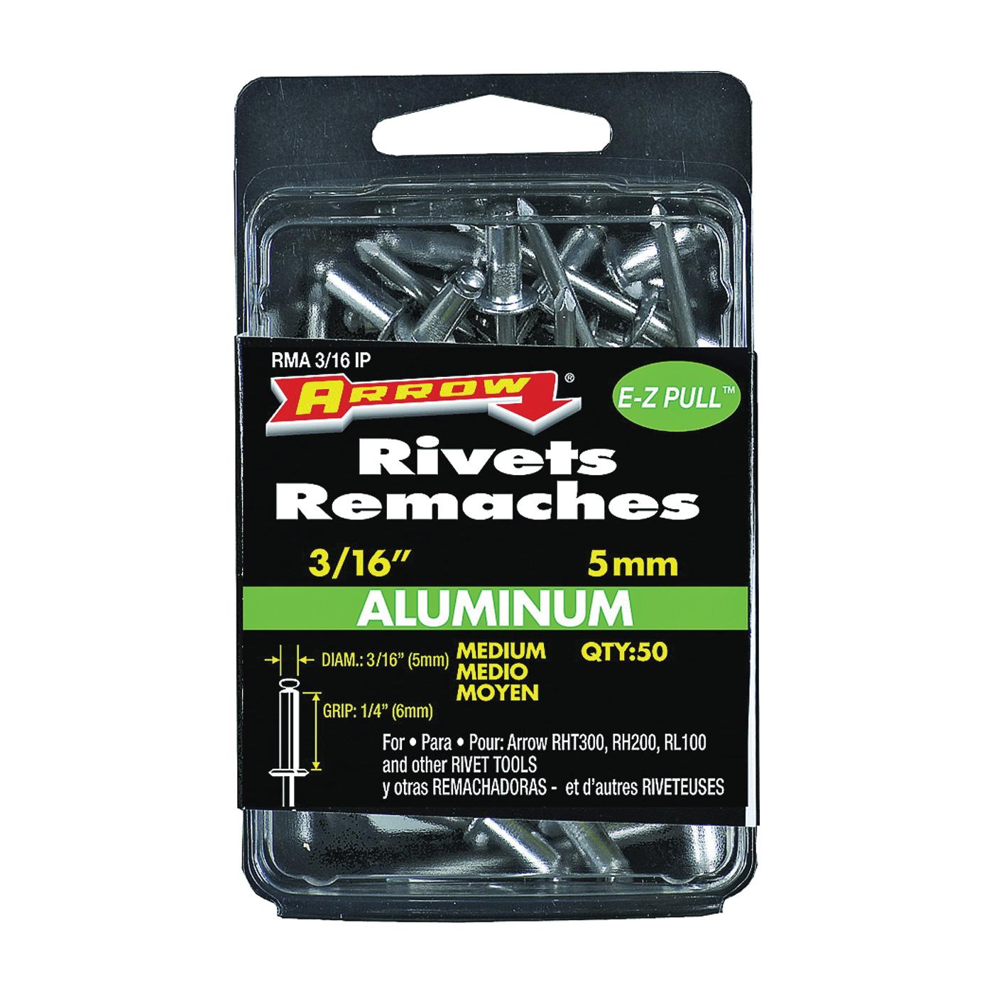 Picture of Arrow RMA3/16IP Pop Rivet, Medium, 1/4 in L, Aluminum, 50