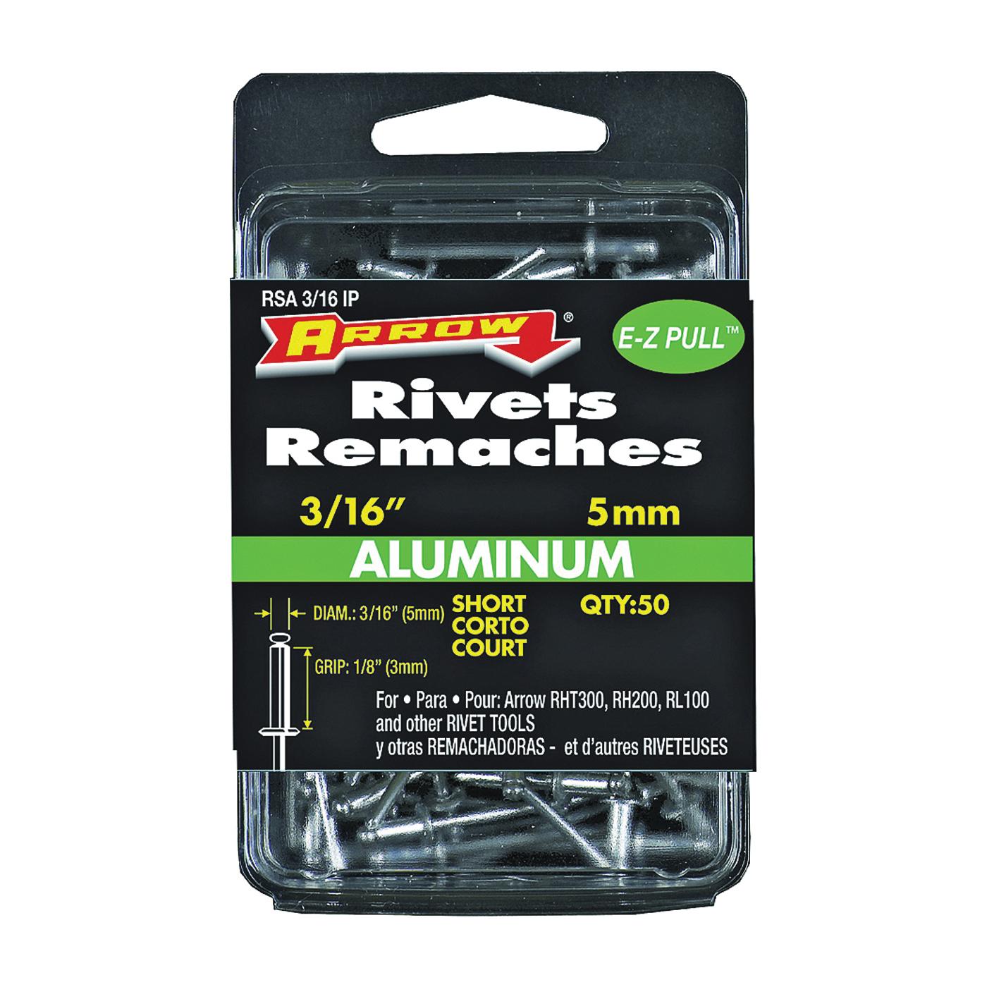 Picture of Arrow RSA3/16IP Pop Rivet, Short, 1/8 in L, Aluminum, 50