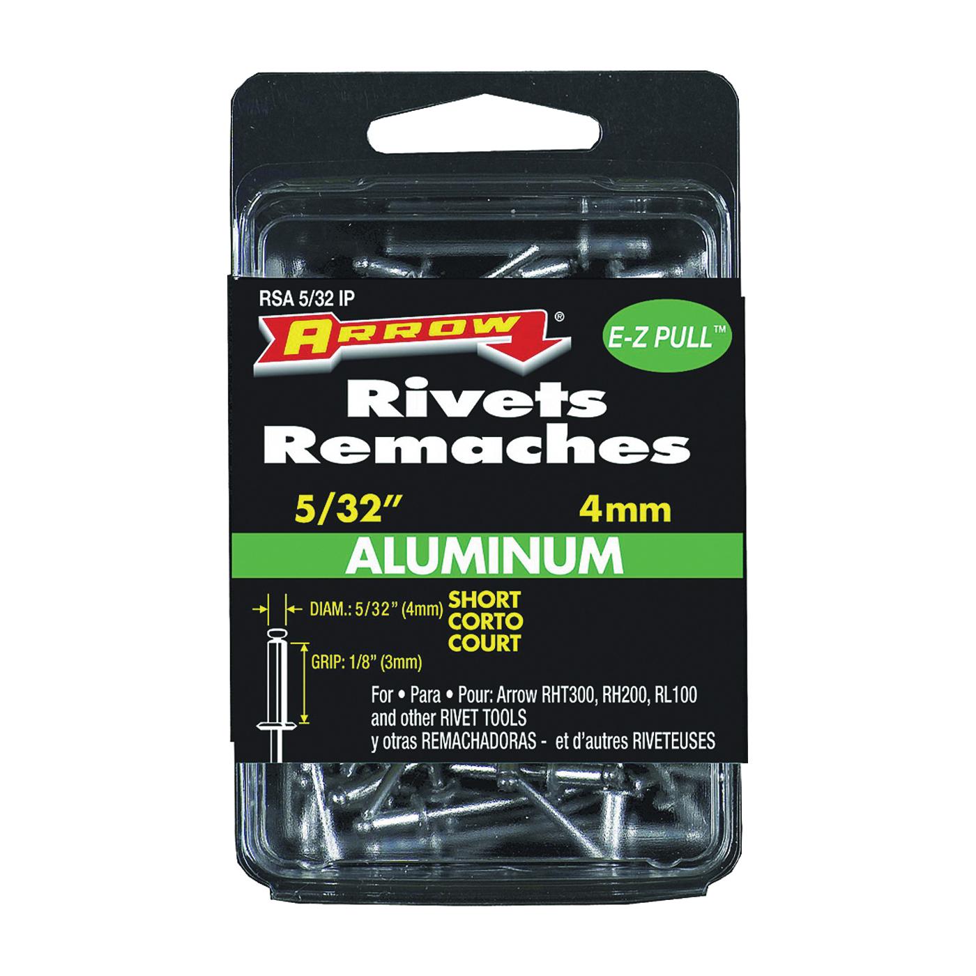 Picture of Arrow RSA5/32 Pop Rivet, Short, 1/8 in L, Aluminum, 20