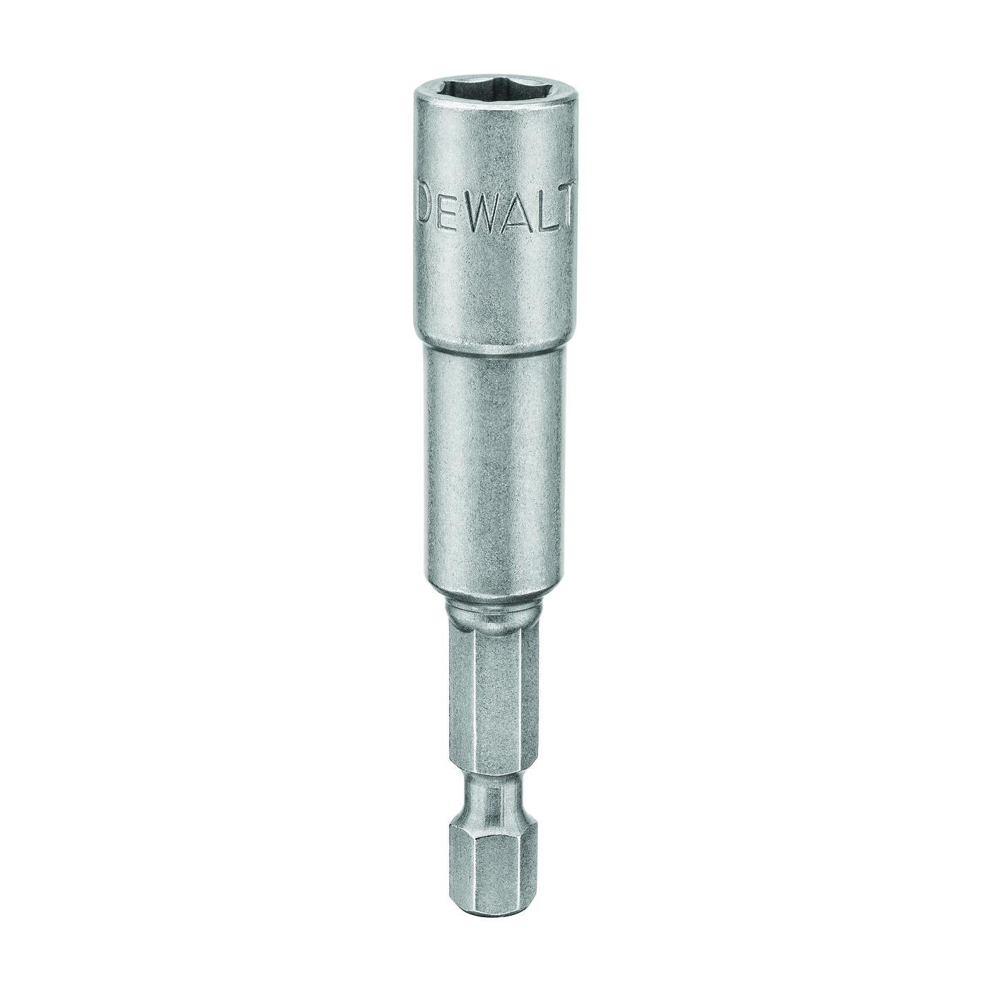 Picture of DeWALT DW2222 Socket Adapter, 5/16 in Drive, 2-9/16 in L, 1/4 in L Shank, Hex Shank