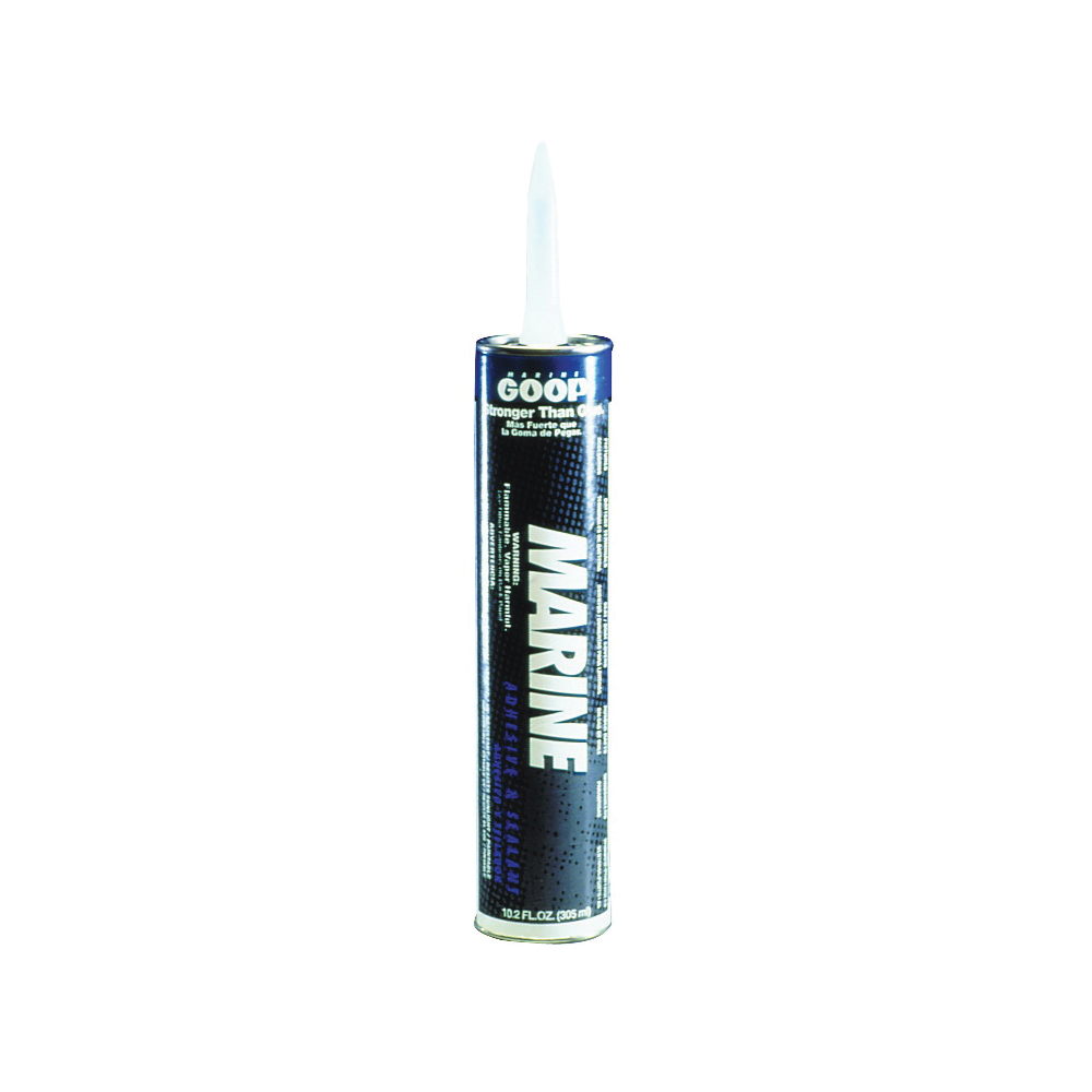 Picture of ECLECTIC 172012 Marine Adhesive Caulk, Clear, 48 to 72 hr Curing, -40 to 150 deg F, 10.2 oz Package, Tube