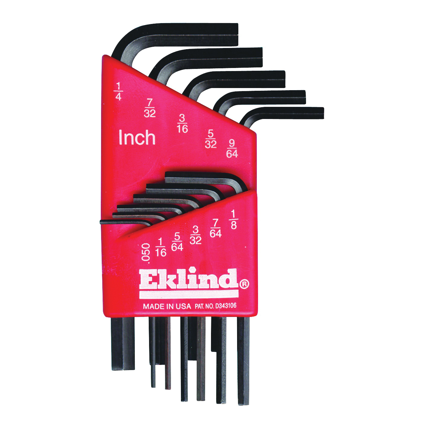 Picture of Eklind 10111 Hex Key Set, 11 -Piece, Steel, Black