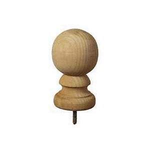 Picture of UPF 106088 Post Top, 5-1/4 in H, Colonial Ball, Pine, White