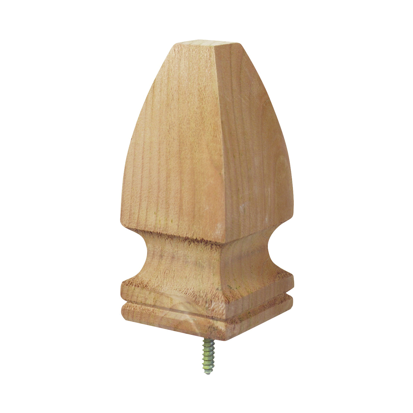 Picture of UPF 106515 Post Top, 6-3/4 in H, French Gothic, Pine, White
