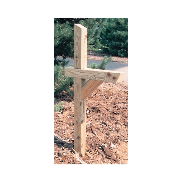 Picture of UPF 106053 Mailbox Post, 4 in L, 4 in W, 72 in H, Wood, Pressure-Treated