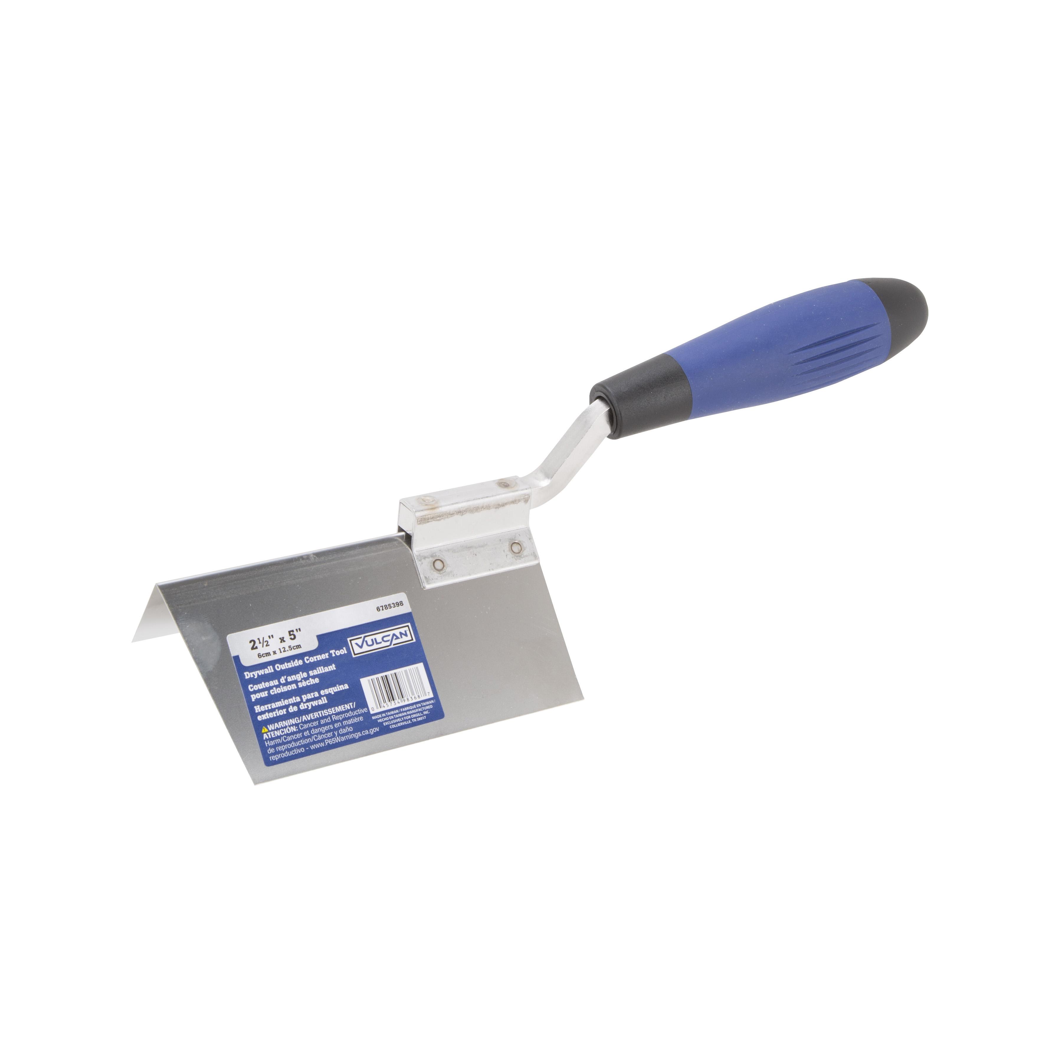Picture of Vulcan 364863L Drywall Corner Trowel, 2-1/2 in W Blade, 5 in L Blade, Stainless Steel Blade, DuraSoft Handle