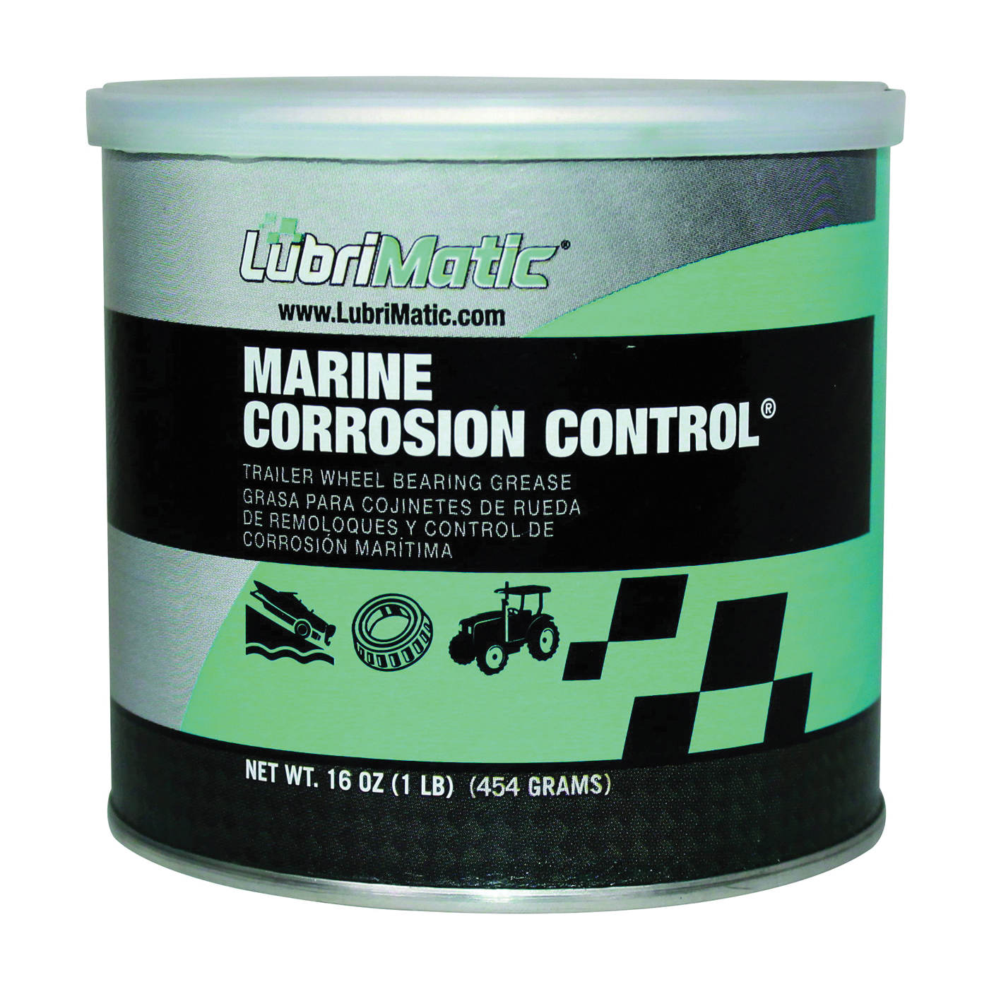 Picture of LubriMatic 11404 Trailer Wheelbearing Grease, 2, 16 oz Package, Can, Slight Hydrocarbon, Green