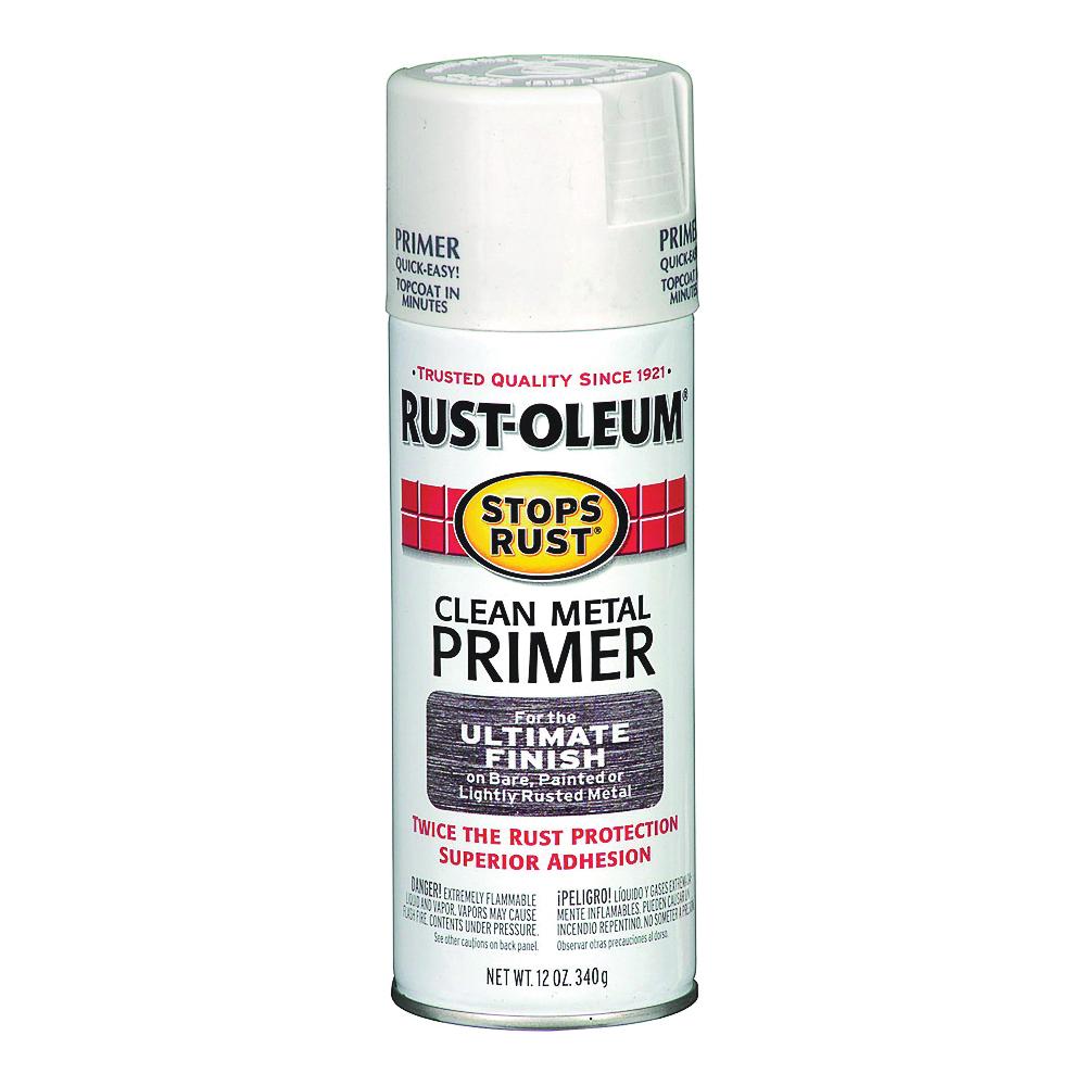 Picture of RUST-OLEUM STOPS RUST 7780830 Primer Spray, White, Flat/Matte, 12 oz