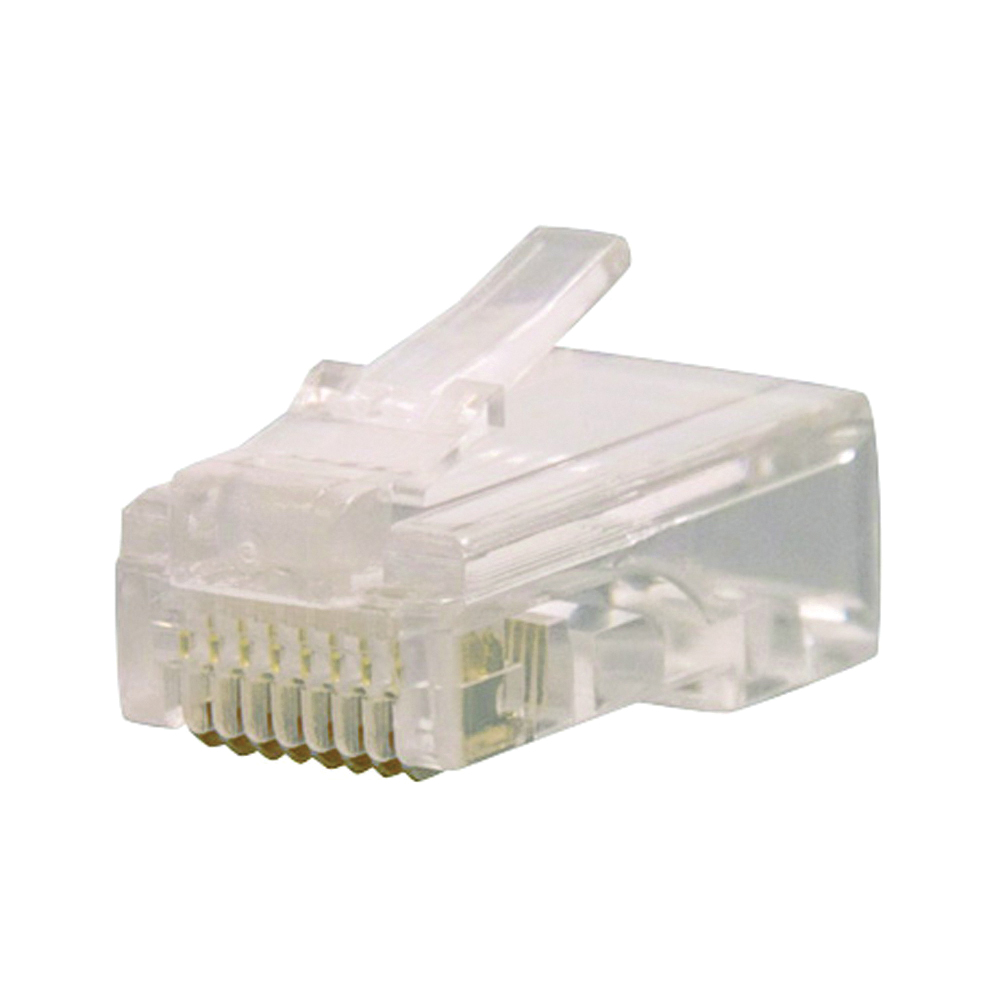 Picture of GB GMC-88C5 Modular Plug, RJ-45 Connector, 8-Contact, 8-Position, White