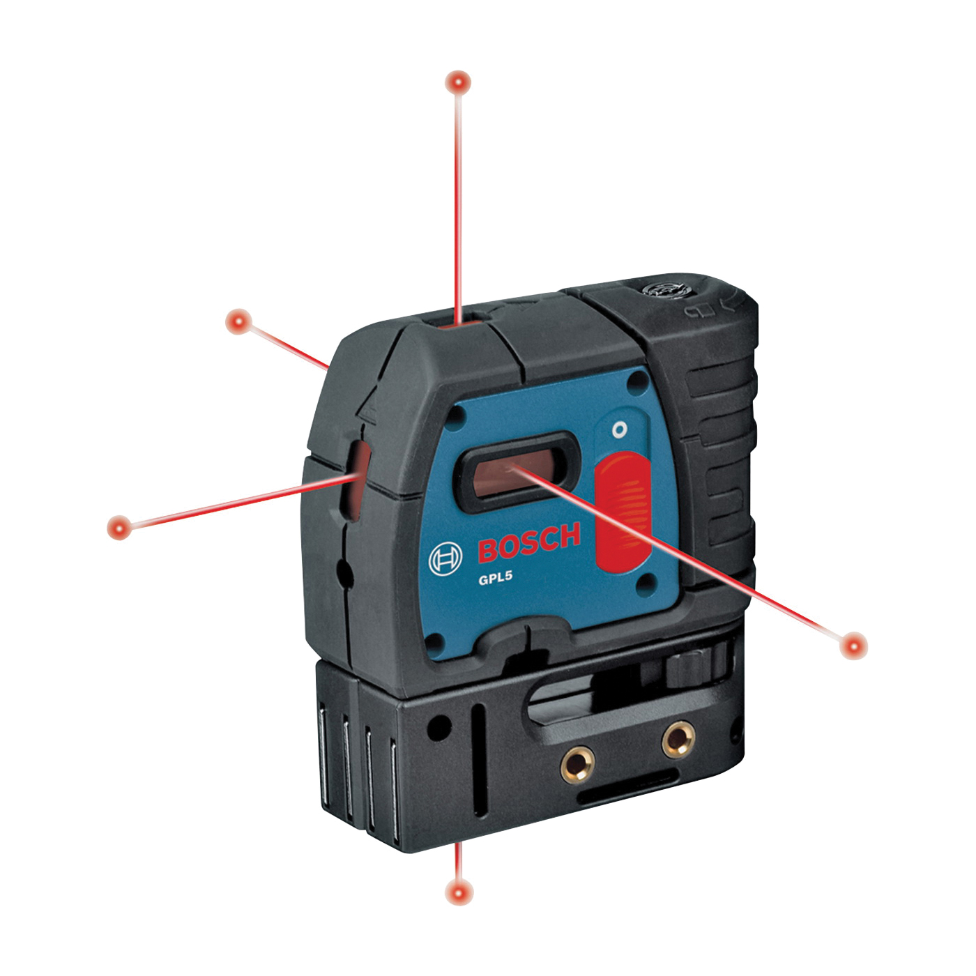 Picture of Bosch GPL 5 Laser Level, 100 ft, +/-1/4 in at 100 ft Accuracy, 5 -Beam