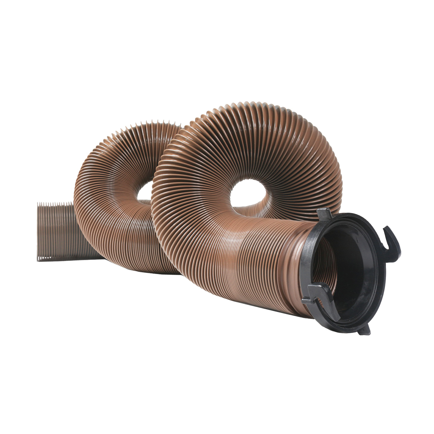 Picture of CAMCO 39691 RV Sewer Hose, 15 ft Extended, 27 in Compressed L, HTS Vinyl, Brown