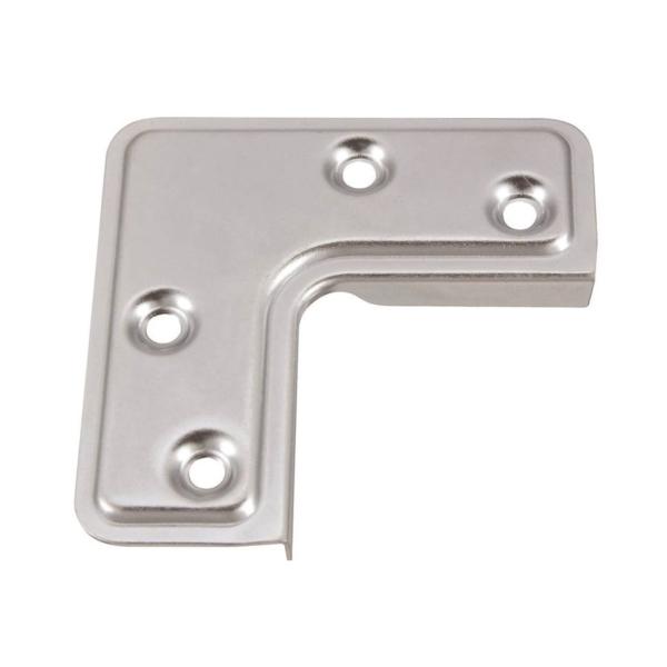 Picture of Stanley Hardware 742400 Corner Brace, 2-1/2 in L, 1 in W, Steel, Zinc