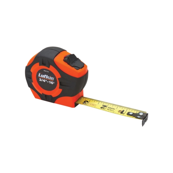 Picture of Crescent Lufkin PHV1316N Tape Measure, 16 ft L Blade, 3/4 in W Blade, Steel Blade, ABS Case, Orange Case