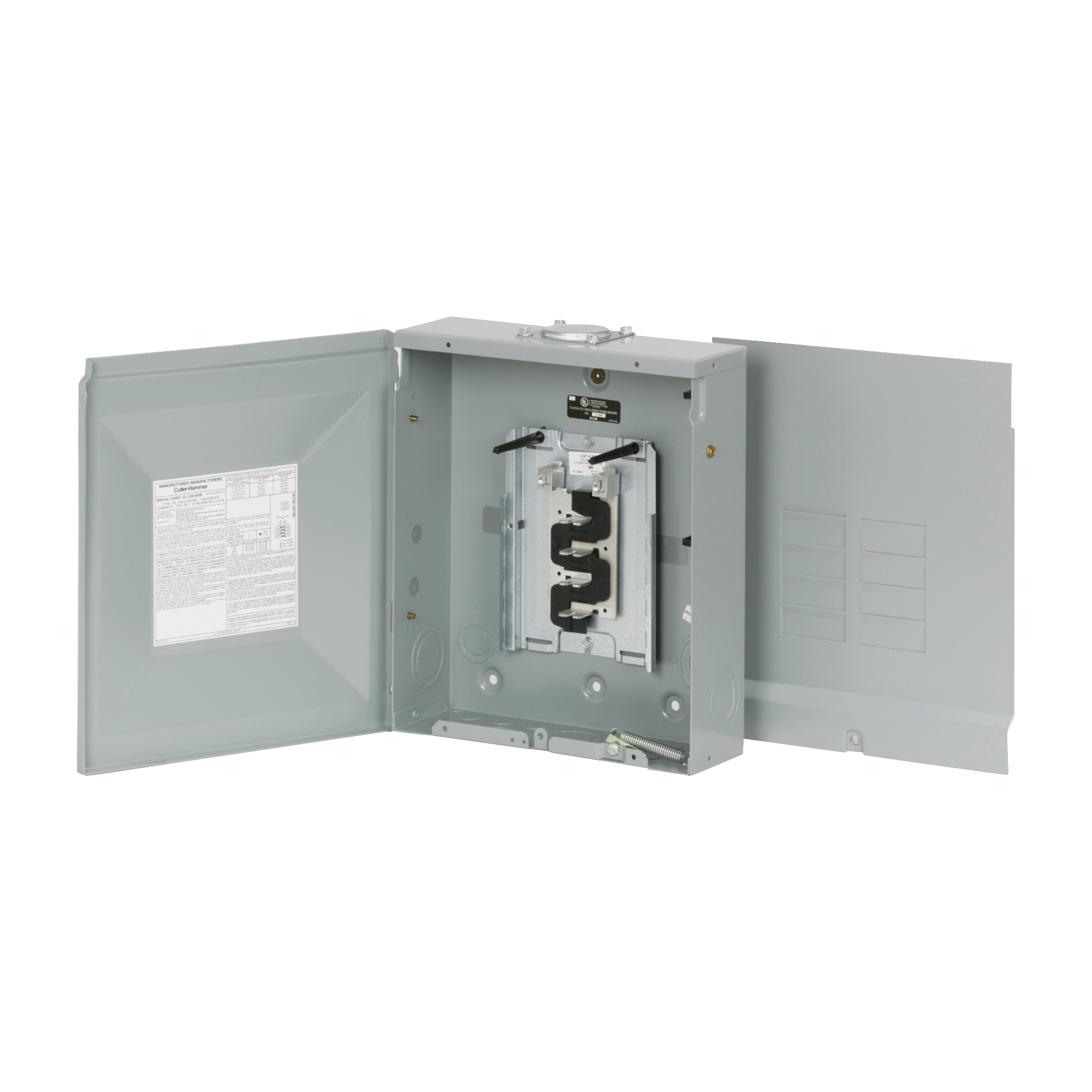Picture of Cutler-Hammer BR Series BR816L125RP Load Center, 125 A, 8-Space, 16-Circuit, Main Lug, NEMA 3R Enclosure