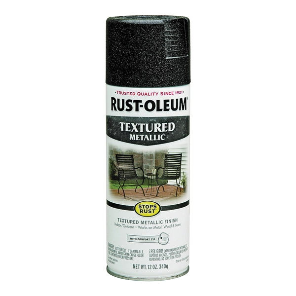 Picture of RUST-OLEUM STOPS RUST 252303 Textured Spray Galaxy, Solvent-Like, Galaxy, 12 oz, Aerosol Can