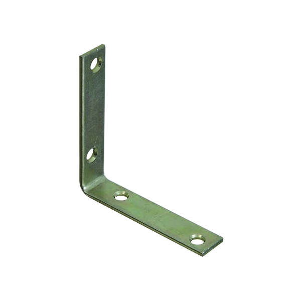 Picture of National Hardware 115BC Series N264-200 Corner Brace, 3-1/2 in L, 3/4 in W, Steel, Zinc, 0.12 Thick Material