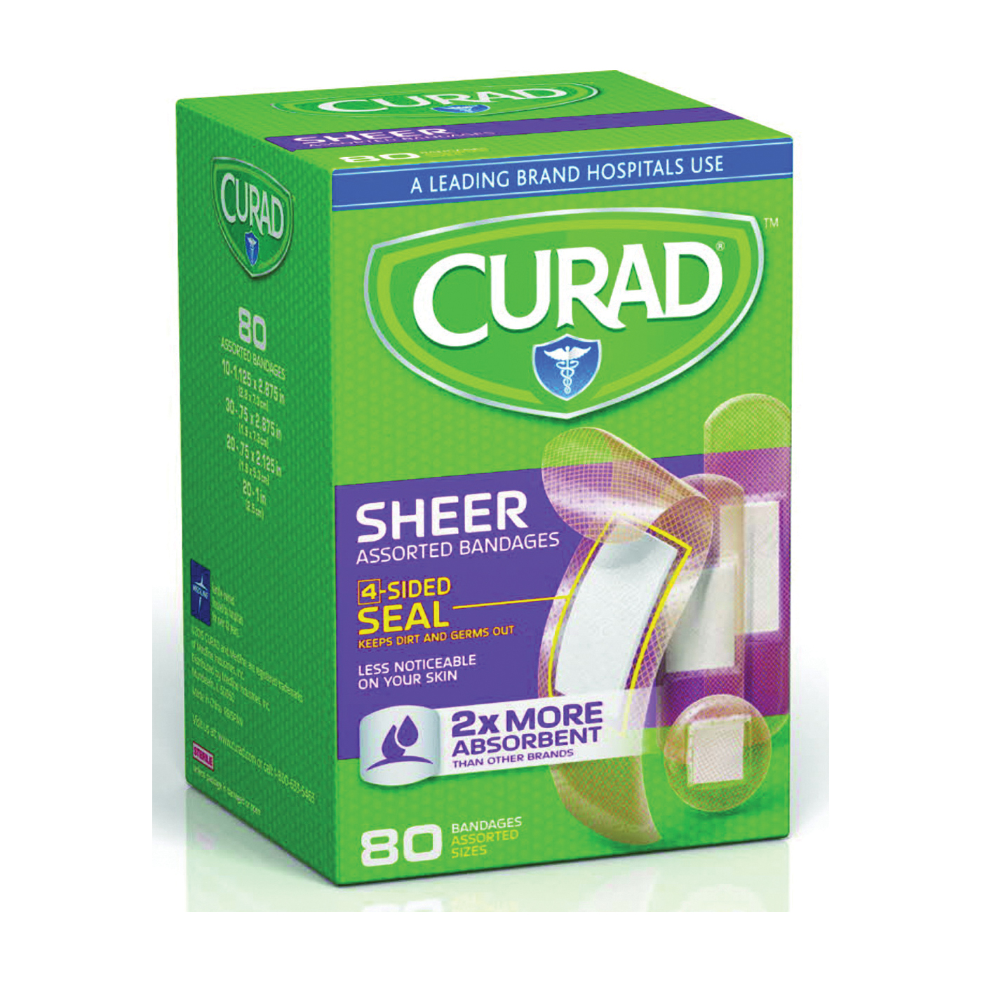 Picture of CURAD CUR45243RB Adhesive Bandage, Fabric Bandage, 24, Case