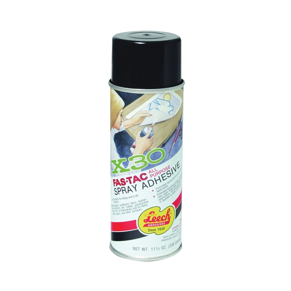 Picture of Leech Adhesives X-30 Fas-Tac LFT-125 Spray Adhesive, Mint, Clear, 11 oz Package, Can