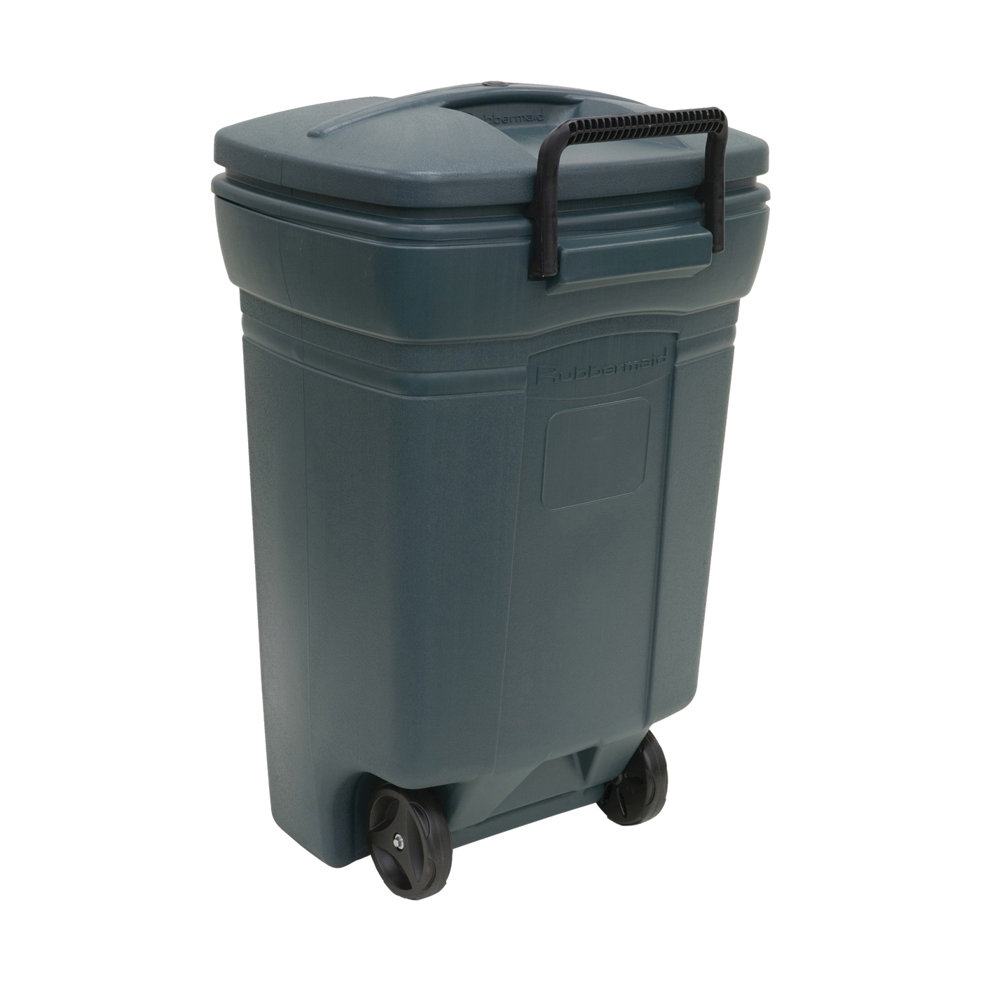 Picture of United Solutions RM134501 Trash Can, 45 gal Capacity, Plastic, Green, Snap-Fit Lid Closure
