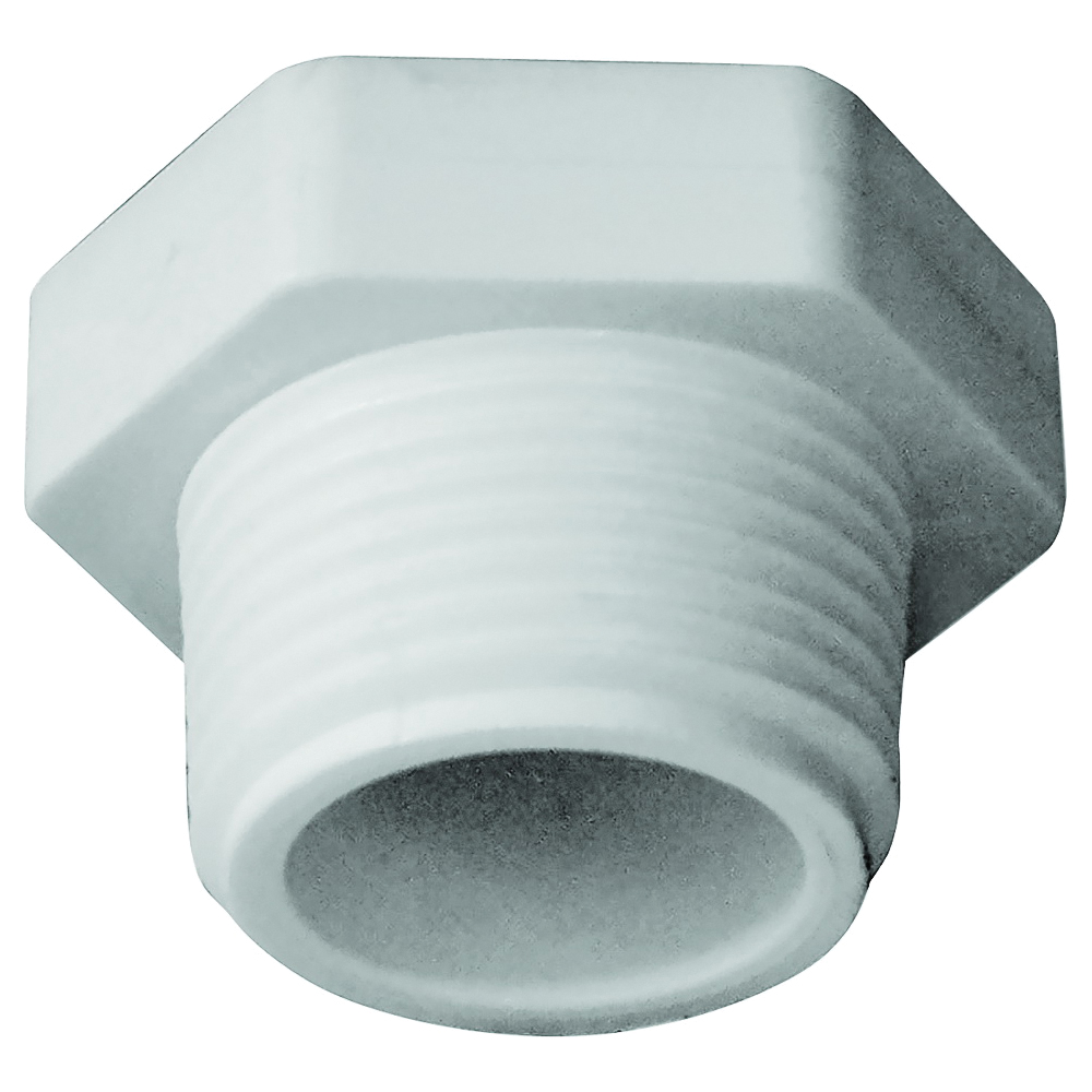 Picture of GENOVA 31807 Pipe Plug, 3/4 in, MIP, PVC, White, SCH 40 Schedule