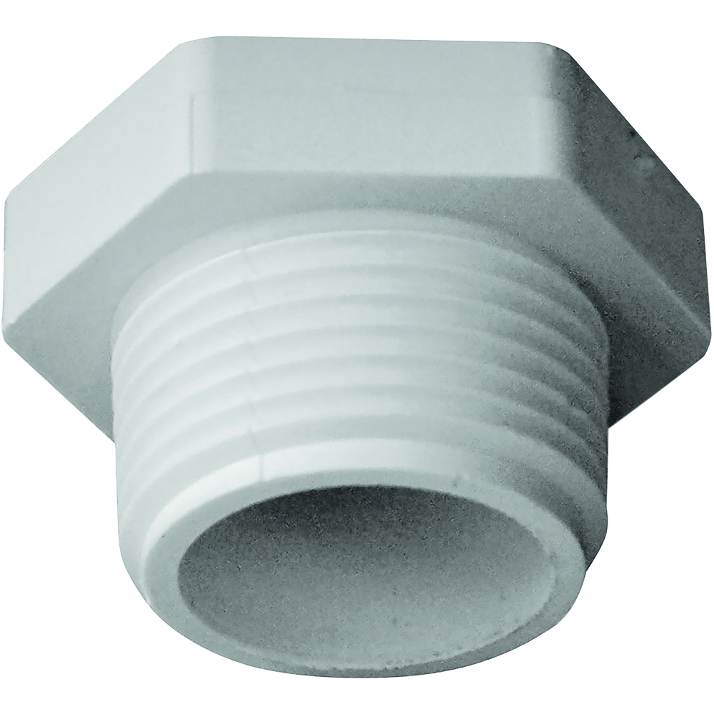 Picture of GENOVA 31810 Pipe Plug, 1 in, MIP, PVC, White, SCH 40 Schedule