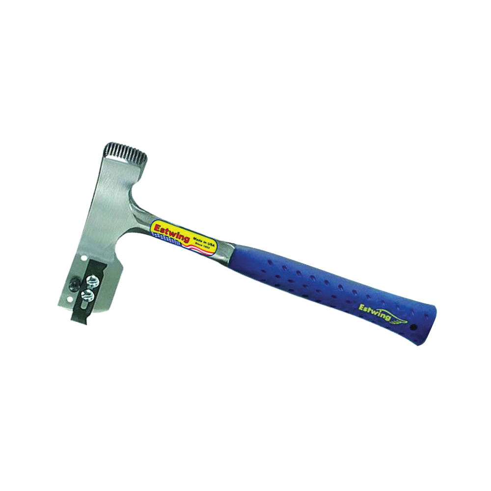 Picture of Estwing E3-CA Shingle Hammer with Replaceable Blade and Gauge, 28 oz Head, Milled Head, Steel Head, 12-1/2 in OAL