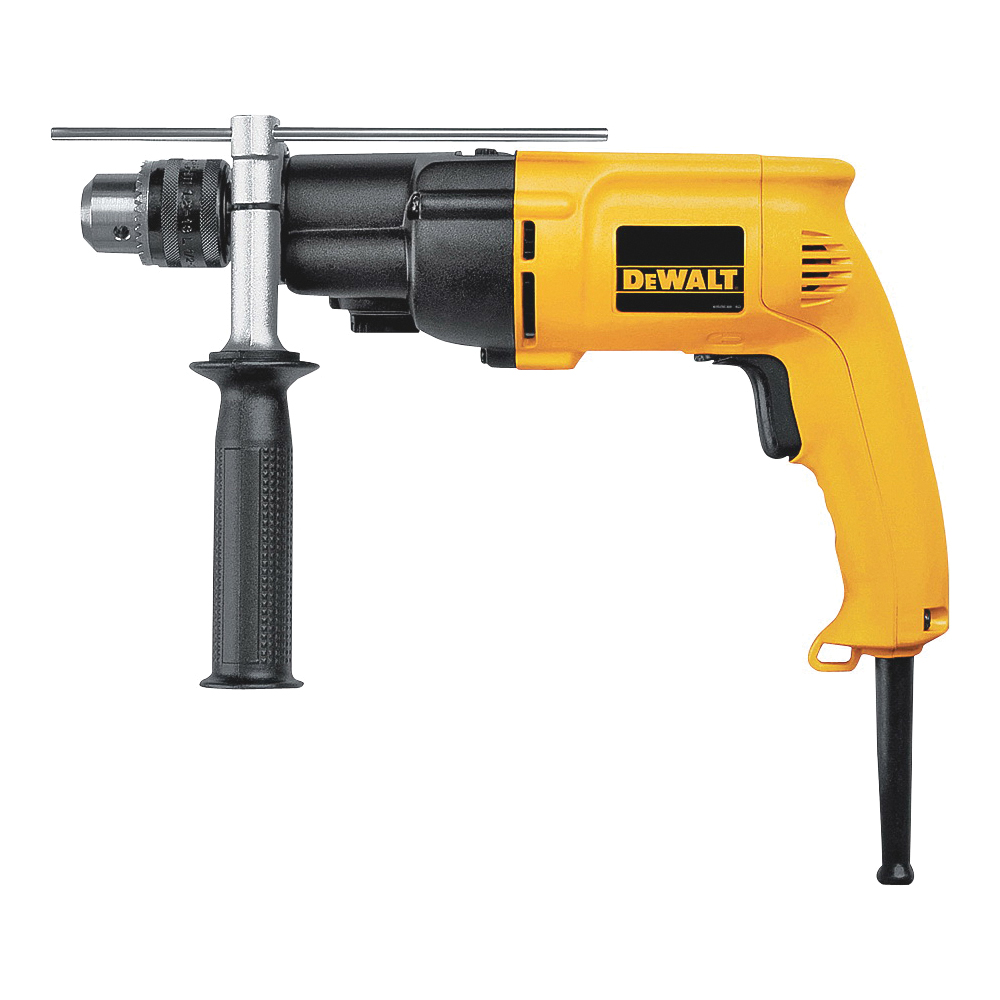 Picture of DeWALT DW505 Hammer Drill, 120 V, 7.8 A, 650 W, 1-1/2 in Wood, 1/2 in Steel Drilling, 1/2 in Chuck, Keyed Chuck