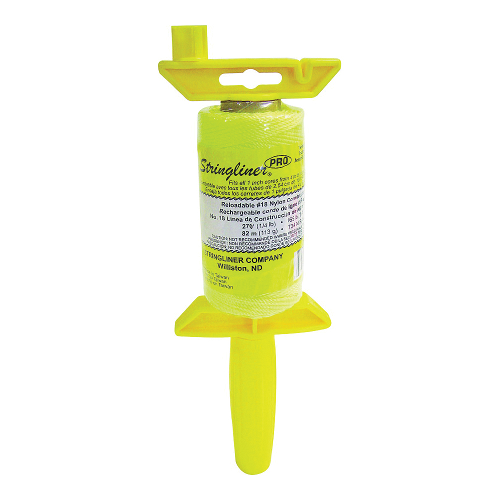 Picture of Stringliner 25112 Line Reel, 270 ft L Line, Fluorescent Yellow Line