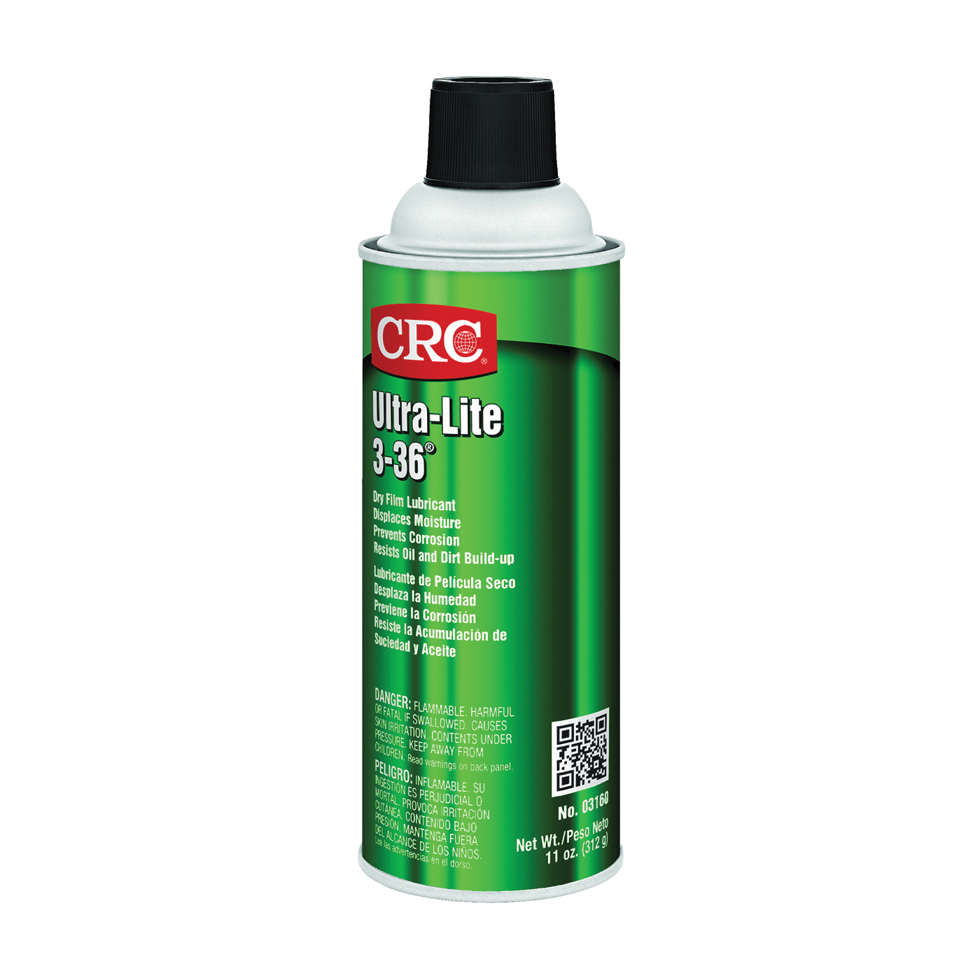 Picture of CRC 03160 Lubricant, 3, 16 oz Package, Aerosol Can, Liquid, Petrol